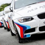 M3 lined up in the pit lane