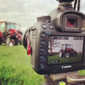 Behind the scenes on the Continental / Valtra shoot.